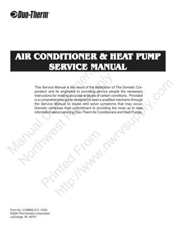 Duo Therm Air Conditioners Diagnostic Guide Bdub Net