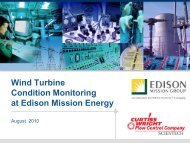 Wind Turbine Condition Monitoring at Edison Mission Energy - FAMOS