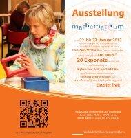 Flyer - Fakultät für Mathematik und Informatik - Friedrich-Schiller ...