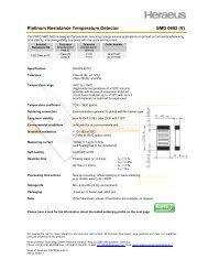 Platinum Resistance Temperature Detector SMD 0603 (V) - Heraeus ...