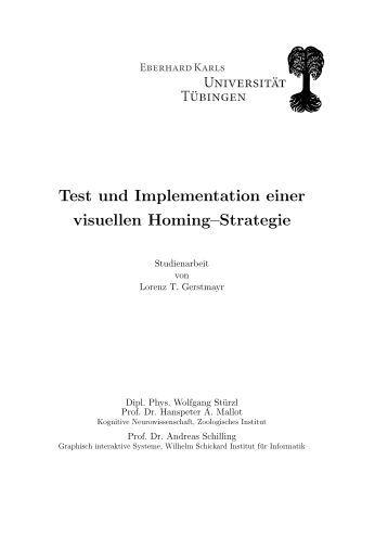 Test und Implementation einer visuellen ... - Universität Tübingen