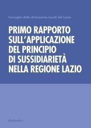 Primo Rapporto sull'applicazione del principio di sussidiarietà - CAL