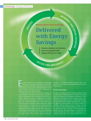Delivered with Energy Savings - Siemens Industry, Inc.