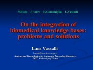 On the integration of biomedical knowledge bases: problems and ...
