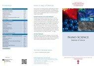 Nano-Science - Universität Tübingen