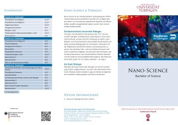 Nano-Science - Universität Tübingen