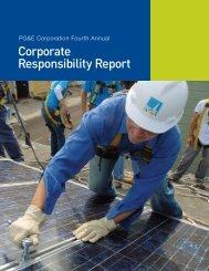 Corporate Responsibility Report - PG&E Corporation