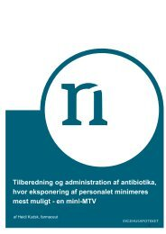 Tilberedning og administration af Antibiotika - mini MTV 2008