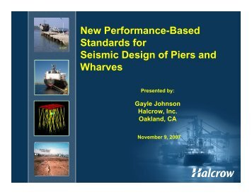 New Performance-Based Standards for Seismic Design of Piers and ...