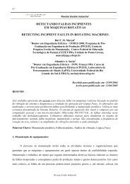Detectando Falhas Incipientes - UTFPR