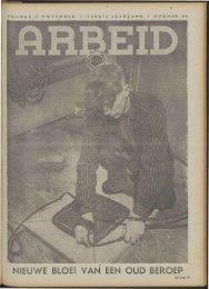 Arbeid (1941) nr. 44 - Vakbeweging in de oorlog