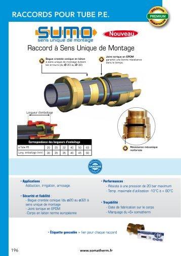 RACCORDS POUR TUBE P.E. - Somatherm