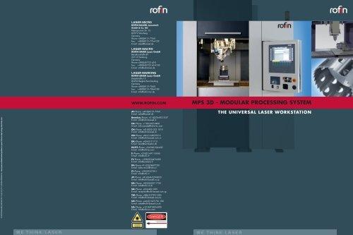 MPS 3D - MODULAR PROCESSING SYSTEM - Rofin