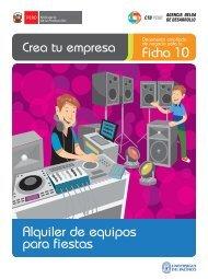 Alquiler de equipos para fiestas Ficha 10 - CRECEmype