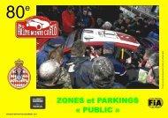 cartes de zones et parkings publics