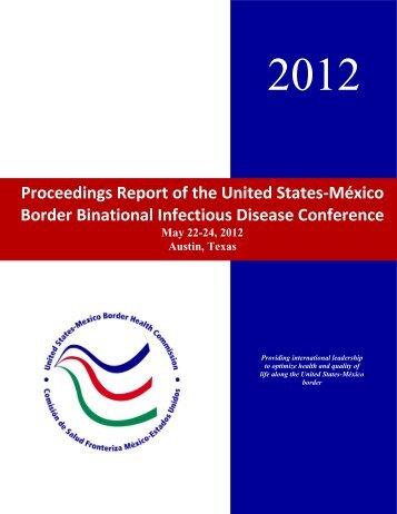 Border Binational Infectious Disease Conference - Mexico Border ...