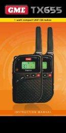 1 watt compact UHF CB radios INSTRUCTION MANUAL - GME