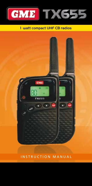 1 watt compact UHF CB radios INSTRUCTION MANUAL - GME