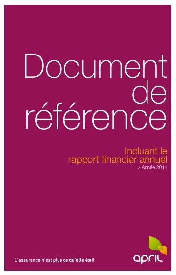 Lire le document - April