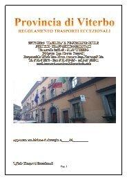 Regolamento trasporti eccezionali - Provincia di Viterbo