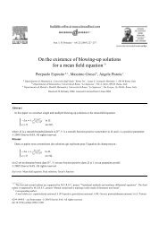 On the existence of blowing-up solutions for a mean field ... - Numdam