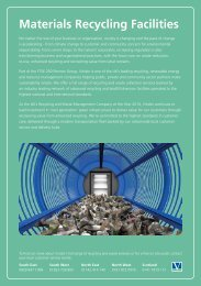 Materials Recycling Facilities - Viridor waste management services