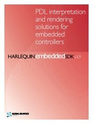 Harlequin Embedded SDK - Global Graphics