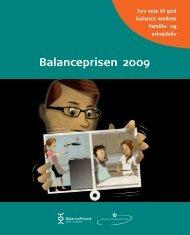 Balanceprisen 2009: Syv veje til god balance mellem - Social