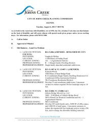 City of Johns Creek Planning Commission August 26, 2013 Agenda