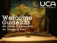Guide: BA (Hons) Creative Arts for Theatre & Film - UCA Community ...