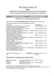 Mitteilungsblatt 67 (64 Seiten).indd - Gemeinde Brennberg