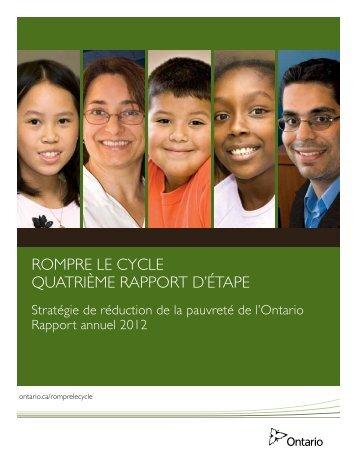 RompRe le cycle QuatRième RappoRt d'étape - Ontario.ca