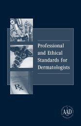 Professional and Ethical Standards for Dermatologists - American ...