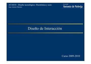 Diseño de Interacción