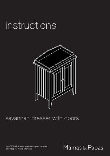 Savannah Dresser with Door - Mamas & Papas