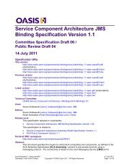 Architecture JMS Binding Specification Version 1.1 - OASIS Open ...