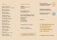 14. Sächsischen Seminar für Assistentinnen und Assistenten in der ...