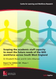Scoping the academic staff capacity to meet the future needs of the ...