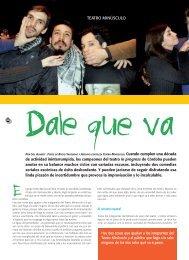ARTES ESCÉNICAS / Dale que va - Revista La Central