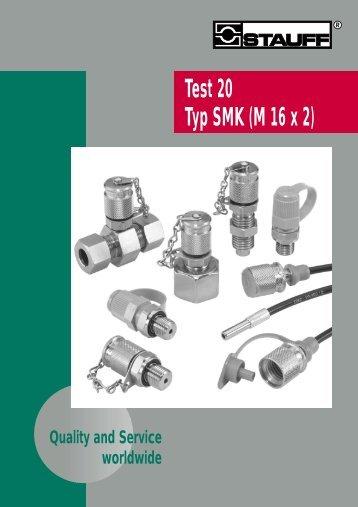 Test 20 Typ SMK (M 16 x 2) - BIBUS SK, sro