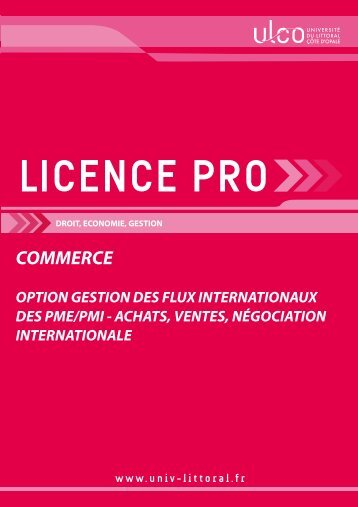 Licence pro Gestion des flux internationaux - Université du Littoral ...