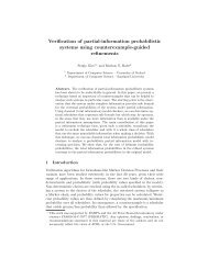 Verification of partial-information probabilistic systems ... - PRISM