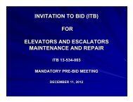 Pre-Bid Conference Documents - Tampa International Airport