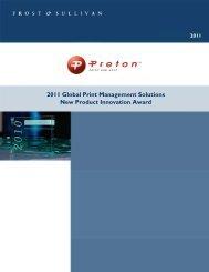 Frost & Sullivan New Product Innovation Award - Preton