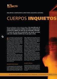 ARTES ESCÉNICAS / Cuerpos inquietos - Revista La Central