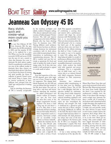 Jeanneau Sun Odyssey 45 DS - Texas Coast Yachts
