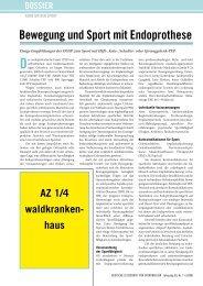 Bewegung und Sport mit Endoprothese - Deutsche Zeitschrift für ...