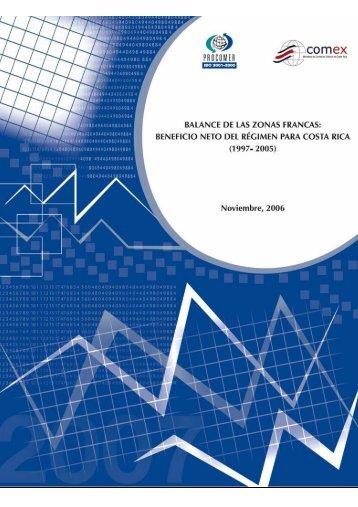Balance De Zonas Francas 1997-2005 - Procomer