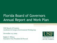 Florida Board of Governors Annual Report and Work Plan