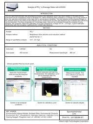 Analysis of PO43-in Drainage Water with UH5300 - Hitachi High ...